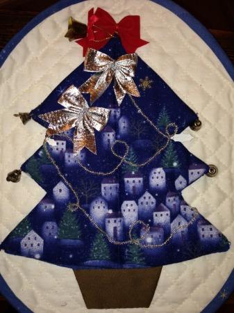 クリスマスツリーキルト
